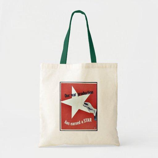 Auf Krieg hat Produktion einen Stern erworben Einkaufstasche