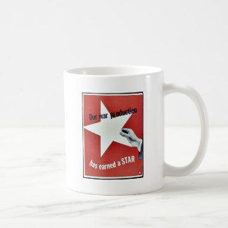 Auf Krieg hat Produktion einen Stern erworben Kaffeetasse