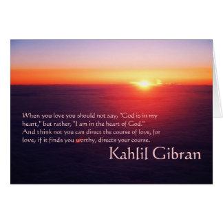 Auf Liebe - der Prophet durch Kahlil Gibran Karte