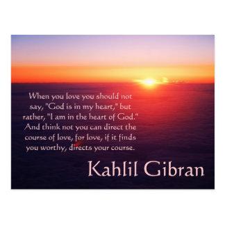 Auf Liebe - der Prophet durch Kahlil Gibran Postkarten