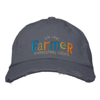 Auf Linie Bauer personifizieren Sie Stickerei-Hut Bestickte Kappen