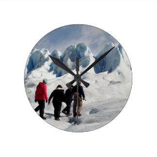 Auf Perito Moreno Gletscher gehen, Argentinien Runde Wanduhr