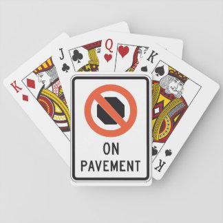Auf Plasterungs-Zeichen-Spielkarten Spielkarten