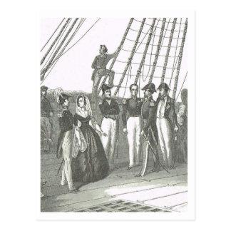 Auf Plattform Marineschiff 1800s Postkarte