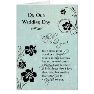 Auf unserem Hochzeits-Tag~, warum i-Liebe Sie tun Karte