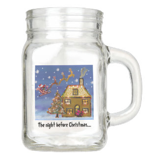 Auf Weihnachtsabend Einmachglas