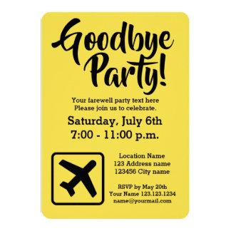 Auf Wiedersehen Abschied, der weg Party Karte