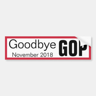 Auf Wiedersehen GOP Autoaufkleber
