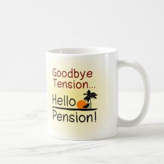 Auf Wiedersehen Spannung hallo Pensions-lustiger Tee Haferl