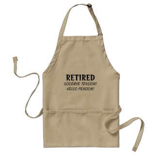 Auf Wiedersehen Spannungshallo Pension Ruhestand Schürze