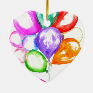 Aufblasbare bunte Ballone Keramik Herz-Ornament