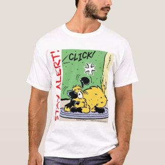 Aufenthalt-Alarm mit einem schlagkräftigen der T-Shirt