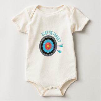 Aufenthalt auf Ziel Baby Strampler
