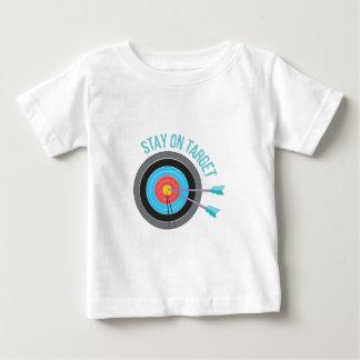 Aufenthalt auf Ziel Baby T-shirt