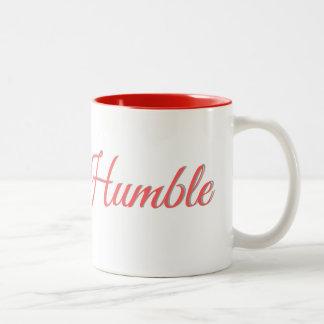 Aufenthalt bescheiden - Kaffee-Tasse Zweifarbige Tasse