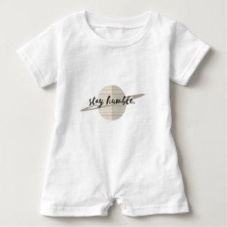 Aufenthalt-bescheidener Planet Baby Strampler
