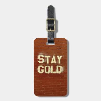Aufenthalt-GoldGepäckanhänger Gepäckanhänger