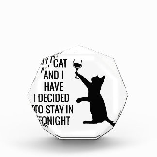 Aufenthalt herein mit Katze heute Abend Acryl Auszeichnung