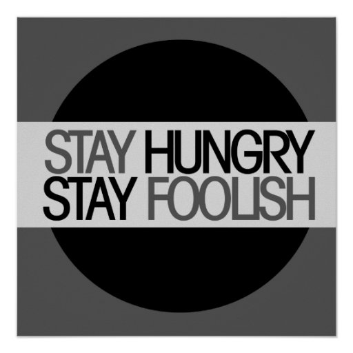 Aufenthalt hungrig posterdruck