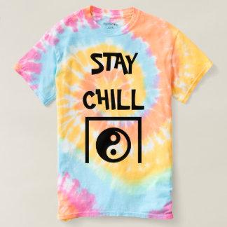Aufenthalt kalter Ying Yang T - Shirt