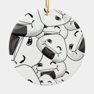 Aufenthalt nah an mir - glücklich keramik ornament