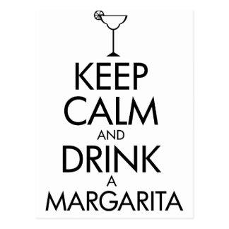 Aufenthalt-ruhiger Margarita-T - Shirt Postkarte