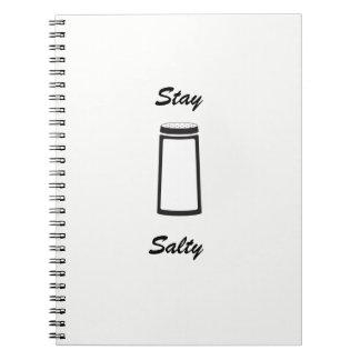 Aufenthalt-salziges weißes Notizbuch Notizblock