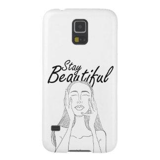 Aufenthalt schön: Schöne lange Haar-Frauen-Linie Samsung Galaxy S5 Hülle