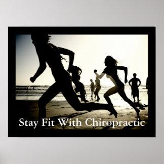 Aufenthalt-Sitz mit Chiropraktik-Büro-Plakat Poster