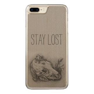 Aufenthalt verlor Schädel-Druck-Telefon Carved iPhone 8 Plus/7 Plus Hülle