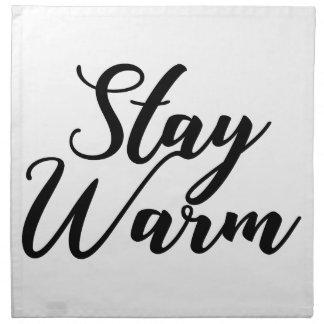 Aufenthalt-Warm Serviette