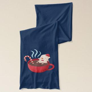 Aufenthalt-warmer Schneemann im heißen Schal