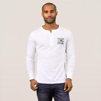 Aufenthalt wild, die weiße Lang-Hülse Tuleyome T-Shirt