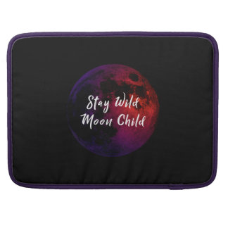 Aufenthalt-wildes Mond-Kind Sleeve Für MacBooks