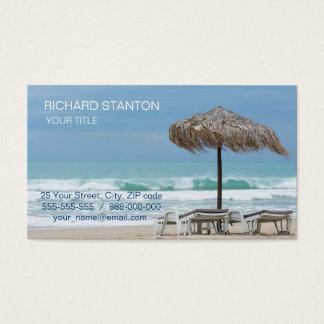 Aufenthaltsräume auf dem Strand Visitenkarte