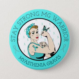 Aufenthaltstarker Myasthenia Gravis Kriegers-Knopf Runder Button 7,6 Cm