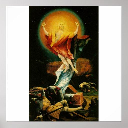 Auferstehung von Christus - Plakat - weißer Hinter