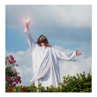 Auferstehungs-Ostern Jesuss Christus christliches Poster