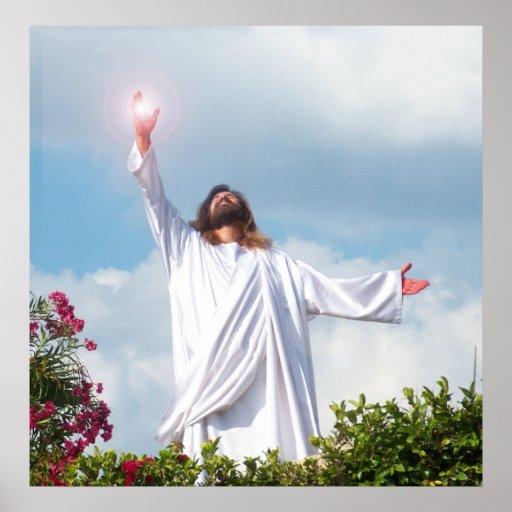 Auferstehungs-Ostern Jesuss Christus christliches  Posterdruck