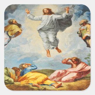 Auferstehungsszene in Vatikan, Rom Quadratischer Aufkleber