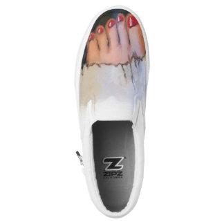 Aufgedeckte Zehe-Turnschuhe Slip-On Sneaker