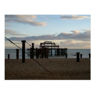 Aufgegebener Westpier Brighton England Postkarte