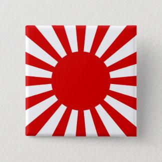 Aufgehende Sonne Quadratischer Button 5,1 Cm