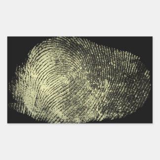 Aufgehobener Schleifen-Fingerabdruck Rechteckiger Aufkleber