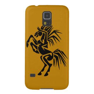 Aufgeregtes schwarzes Pferd Samsung S5 Hülle