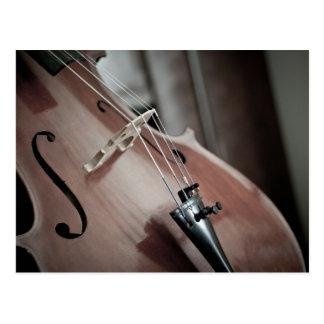 Aufgereihtes Instrument der klassischen Musik des Postkarte