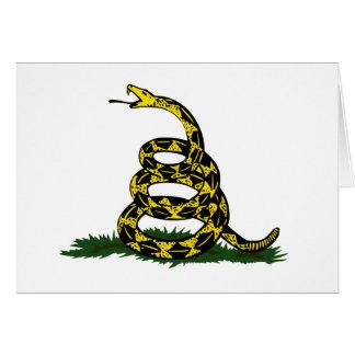 Aufgerollte Gadsden-Flaggen-Schlange Karte