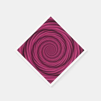 Aufgerollte Kabel in der rosa Serviette