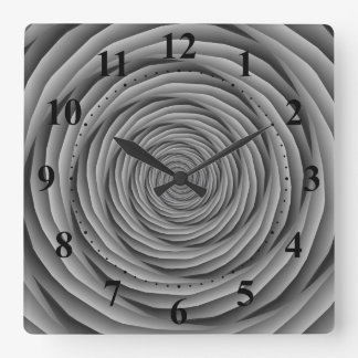Aufgerollte Kabel in der Schwarzweiss-Uhr Wanduhren