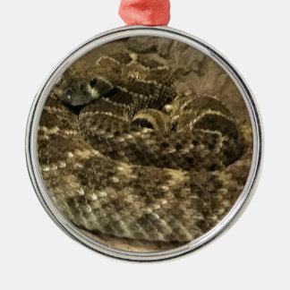 Aufgerollte Schlange Silbernes Ornament